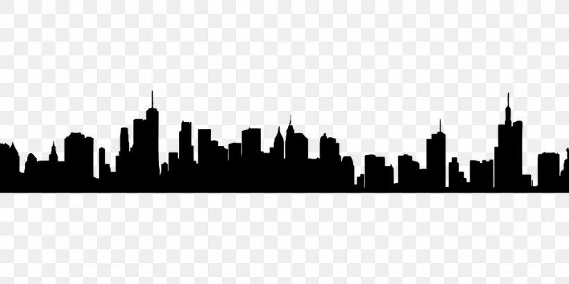 Skyline Clip Art New York Vector Graphics, PNG, 960x480px, Skyline, Architecture, Blackandwhite, Cartoon, City Download Free