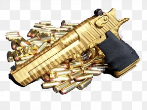 Gun - Golden Tiger IMI Desert Eagle .50 Action Express Magnum Research PNG