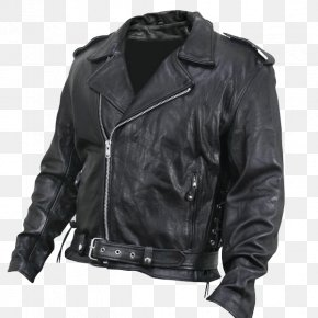 Jacket - Leather Jacket Motorcycle Zipper PNG