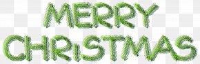 Merry Christmas Pine Text Decoration Clip Art Image - Christmas Santa Claus Xmas Clip Art PNG