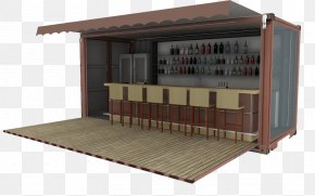 Cafe - Cafe Intermodal Container Shipping Container Freight Transport House PNG