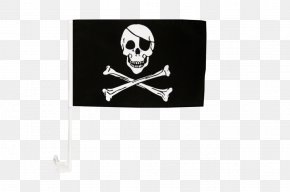 Flag - Jolly Roger Flag Piracy Fahne Skull And Crossbones PNG