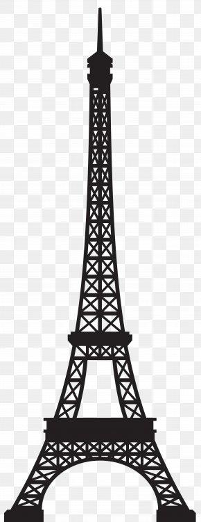 Eiffel Tower Silhouette Clip Art Image - Eiffel Tower Landmark Clip Art PNG