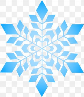 Simple Blue Snowflake - Snowflake Blue PNG