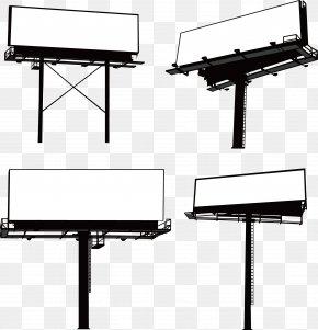 Outdoor Billboard - Billboard Advertising Graphic Design PNG