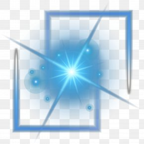 Cool Blue Light Vector Material - Light Euclidean Vector Computer File PNG