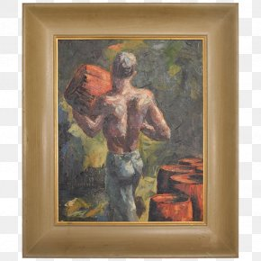 Mid - Modern Art Painting Still Life Picture Frames PNG