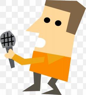 Singing Brown Hair Boy - Journalist News Presenter Clip Art PNG