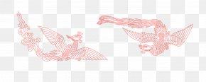 Red Phoenix - Paper Pink Petal Pattern PNG