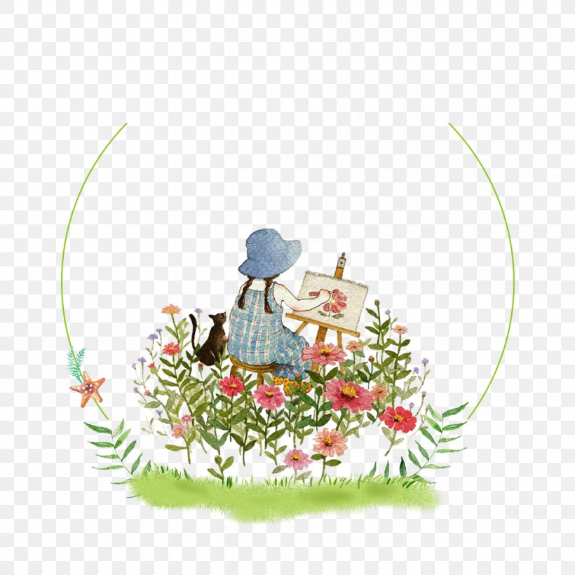 Painting Paintbrush Child Illustration, PNG, 1000x1000px, Painting, Art, Child, Christmas Ornament, Creative Arts Download Free