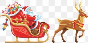 Santa Claus - Santa Claus's Reindeer Rudolph Santa Claus's Reindeer Christmas PNG
