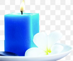 Creative Effects Blue Candle Flowers - Candle Still Life Photography Wax Wallpaper PNG