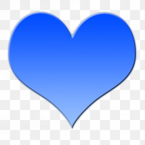 Picture Of A Big Heart - Love Heart Blue Clip Art PNG