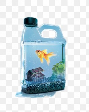 Creative Kettle Goldfish - Water Conservation Poster Advertising Flyer PNG