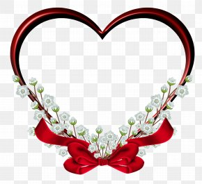 Transparent Red Heart Frame Decor Clipart - Heart Picture Frame Clip Art PNG