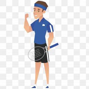 Playing Tennis Man - Tennis Badminton T-shirt PNG