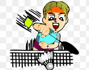 Cartoon Sport Badminton - Sport Badminton Cartoon PNG