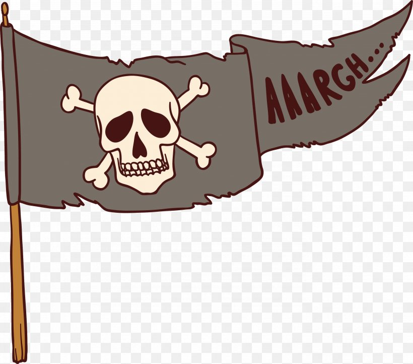Jolly Roger Flag Piracy, PNG, 2759x2431px, Piracy, Brand, Cartoon, Drawing, Flag Download Free