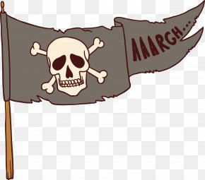 Worn Pirate Flag - Jolly Roger Flag Piracy PNG