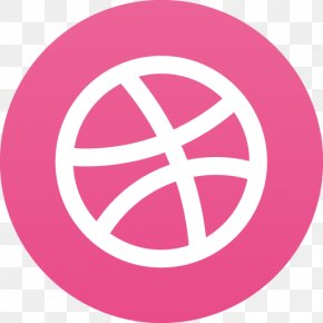 Dribbble - Pink Area Trademark Symbol Brand PNG