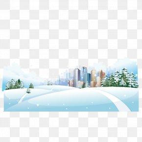Snowy City - Snow Winter Clip Art PNG