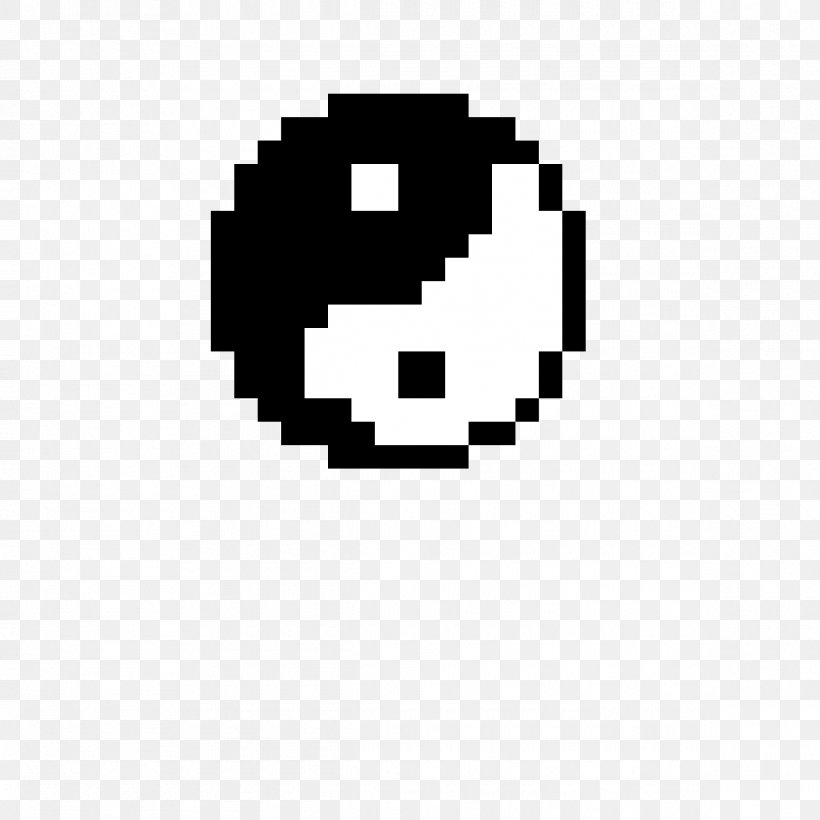 Minecraft Pixel Art Xbox One Yin And Yang Png 1190x1190px Minecraft Art Black Black And White