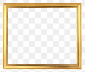 Frame Gold - Picture Frames Gold Rectangle Stock Photography PNG