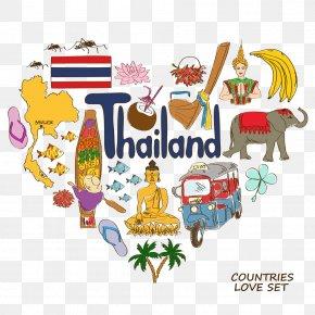 Thailand Element - Thailand Heart Symbol Illustration PNG