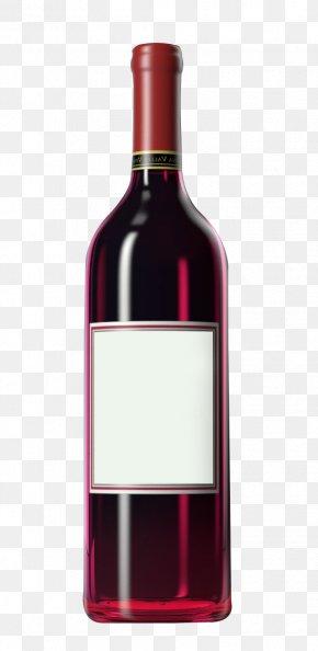 Wine Bottle - Red Wine Distilled Beverage Bottle PNG