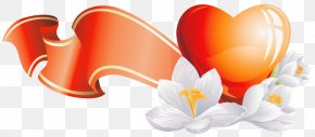 Flower Heart Cliparts - Flower Heart Tulip Clip Art PNG