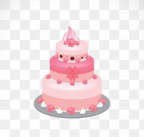 Pink Layer Cake - Birthday Cake Icing Layer Cake Cupcake Wedding Cake PNG