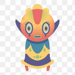 Cartoon Little Monster - Monster Cartoon Designer Illustration PNG