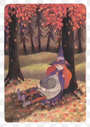The Little Witch In The Forest - Watercolor Painting Illustrator Drawing DeviantArt Illustration PNG