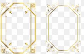 Gold Frame - Picture Frame Gold Pattern PNG