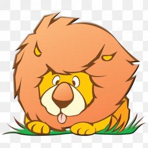 Grass Tongue Lion - Lionhead Rabbit Drawing Clip Art PNG