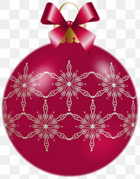 Christmas Red Ornamental Ball Clipart Image - Christmas Ornament Clip Art PNG