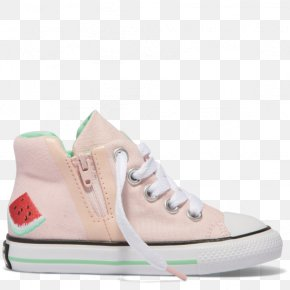 Pink Cheap Converse Shoes For Women - Sports Shoes Chuck Taylor All-Stars Converse Pink Watermelon Chuck Taylor Hi-Tops PNG