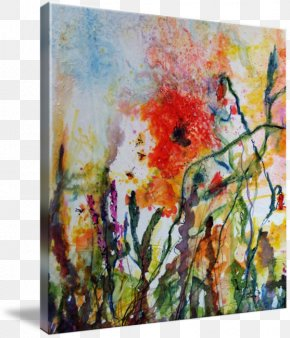 Ink Watercolor - Watercolor Painting Art Gallery Wrap Acrylic Paint PNG