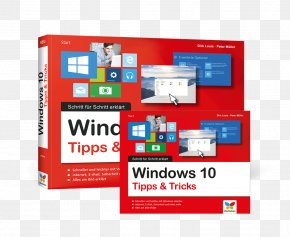 Cover Windows 10 - Windows 10 Microsoft Windows Paperback Book Text PNG