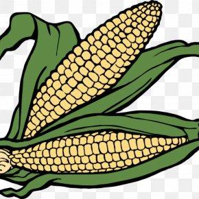 Sweet Corn Clip Art - Corn On The Cob Clip Art Maize Sweet Corn Image PNG