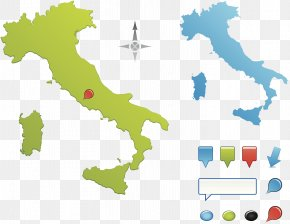 Italian Business Travel Map - Flag Of Italy Map Illustration PNG