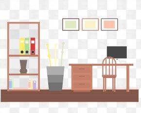 Vector House Desk - Living Room Interior Design Services Bookcase PNG