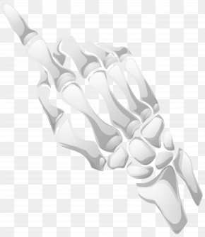 Skeleton Hand Clip Art Image - Black And White Pattern PNG