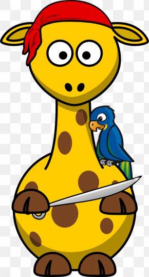Giraffe Graphics - Giraffe Towel Piracy Clip Art PNG