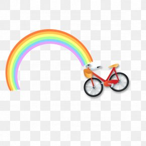 Rainbow Cycling - Rainbow Euclidean Vector Bicycle PNG