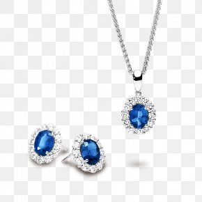 Sapphire - Sapphire Earring Locket Jewellery Necklace PNG