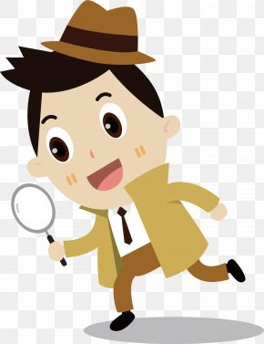 Vector Scientist Boy - Euclidean Vector Magnifying Glass Clip Art PNG