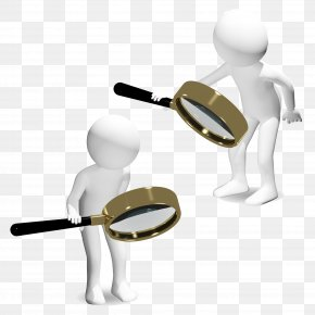 Holding A Magnifying Glass 3D Villain - Magnifying Glass Illustration PNG