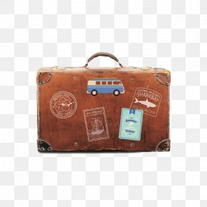 Hand-painted Classical Suitcase - Vacation Travel Agent Airline Hotel PNG