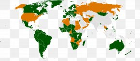 World Map - European Union United States AC Power Plugs And Sockets Voltage PNG